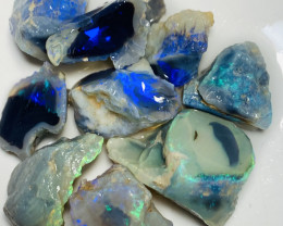 90 CTs Select Bright Rough Nobby Opals to Cut #650