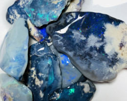 116 CTs of Rough Black Seam Opals to Cut- See the video plz#657