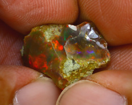 6.22Ct Multi Color Play Ethiopian Welo Opal Rough J2411/R2