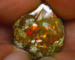 6.54Ct Multi Color Play Ethiopian Welo Opal Rough J2418/R2