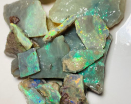 Dark Base Rough Seam Opals with Potential Cutters