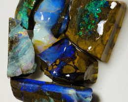 Select Colourful Rough Boulder Opals of Winton Field #700