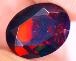 2.04cts Natural Ethiopian Welo Faceted Smoked Opal / SU617