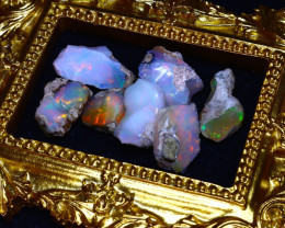 SALES 48.70Ct Multi Color Play Ethiopian Welo Opal Rough Lot G2501/R2