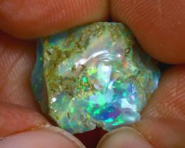 8.32Ct Multi Color Play Ethiopian Welo Opal Rough H2502/R2