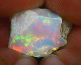 7.60Ct Multi Color Play Ethiopian Welo Opal Rough H2508/R2