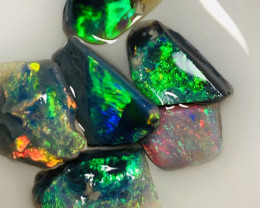 6.5 CTs Multicolour Bright Rough & Rub Opals- See the video and size plz #7