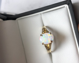 Andamooka opal ring  18ct
