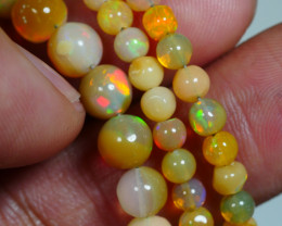 39.200 CRT BEAUTIFUL OPAL BALLS NECKLACE MULTI PLAY COLOR WELO OPAL-