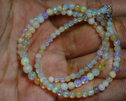 29.430 CRT BEAUTIFUL OPAL BALLS NECKLACE MULTI PLAY COLOR WELO OPAL-
