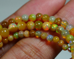 39.995 CRT BEAUTIFUL OPAL BALLS NECKLACE MULTI PLAY COLOR WELO OPAL-