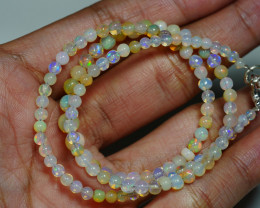 31.335 CRT BEAUTIFUL OPAL BALLS NECKLACE MULTI PLAY COLOR WELO OPAL-