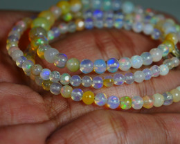 31.145 CRT BEAUTIFUL OPAL BALLS NECKLACE MULTI PLAY COLOR WELO OPAL-