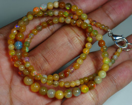 38.895 CRT BEAUTIFUL OPAL BALLS NECKLACE MULTI PLAY COLOR WELO OPAL-