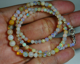 33.395 CRT BEAUTIFUL OPAL BALLS NECKLACE MULTI PLAY COLOR WELO OPAL-