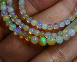 28.950 CRT BEAUTIFUL OPAL BALLS NECKLACE MULTI PLAY COLOR WELO OPAL-