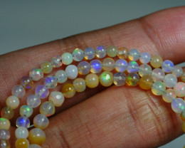 29.655 CRT BEAUTIFUL OPAL BALLS NECKLACE MULTI PLAY COLOR WELO OPAL-