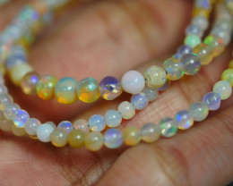 29.810 CRT BEAUTIFUL OPAL BALLS NECKLACE MULTI PLAY COLOR WELO OPAL-