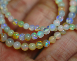 32.985 CRT BEAUTIFUL OPAL BALLS NECKLACE MULTI PLAY COLOR WELO OPAL-