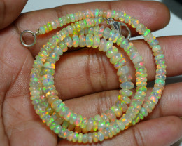 49.815 CRT BEAUTIFUL OPAL BALLS NECKLACE MULTI PLAY COLOR WELO OPAL-