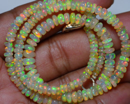 48.175 CRT BEAUTIFUL OPAL BALLS NECKLACE MULTI PLAY COLOR WELO OPAL-