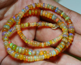 54.515 CRT BEAUTIFUL OPAL BALLS NECKLACE MULTI PLAY COLOR WELO OPAL-