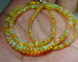 39.325 CRT BEAUTIFUL OPAL BALLS NECKLACE MULTI PLAY COLOR WELO OPAL-