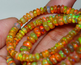 61.945 CRT BEAUTIFUL OPAL BALLS NECKLACE MULTI PLAY COLOR WELO OPAL-