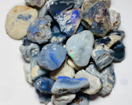 580 CTs of Big Rough Black Nobby Opals to Gamble #750