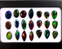 13.91cts Natural Ethiopian Welo Smoked Faceted Opal LOTS / BF9133