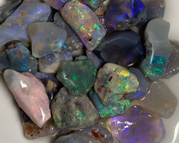 Multicolour Bright Nobby Rough Opals to Cut