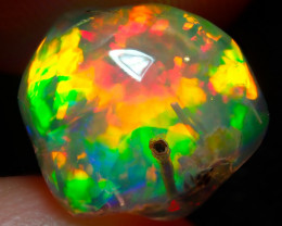 $3000 NR Auction $1 5.5ct Water Solid Rutiled AAA Opal With Great Play Of C