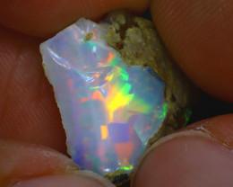 6.34Ct Multi Color Play Ethiopian Welo Opal Rough H0117/R2