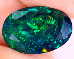 1.26cts Natural Ethiopian Welo Faceted Smoked Opal / NY3417