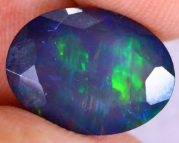 3.41cts Natural Ethiopian Welo Faceted Smoked Opal / NY3420