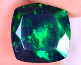 1.66cts Natural Ethiopian Welo Faceted Smoked Opal / NY3444