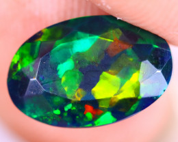1.86cts Natural Ethiopian Welo Faceted Smoked Opal / NY3451