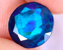 1.08cts Natural Ethiopian Welo Faceted Smoked Opal / NY3452