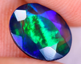 1.06cts Natural Ethiopian Welo Faceted Smoked Opal / NY3453
