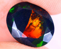 2.28cts Natural Ethiopian Welo Faceted Smoked Opal / NY3459