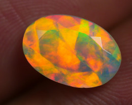1.485 CRT AMAZING FACETED UNIQUE  MULTI PLAY COLOR  WELO-