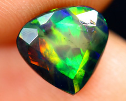 1.33cts Natural Ethiopian Welo Faceted Smoked Opal / HM3232