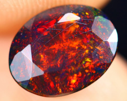 1.25cts Natural Ethiopian Welo Faceted Smoked Opal / HM3249