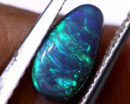 N 2-   0.49  cts   black opal stone lightning ridge TBO-A3721 trueblueopals