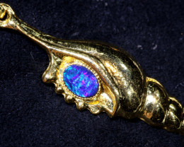 25CTS  OPAL DOUBLET PENDANT   OF-2888  OPALSFOREVER