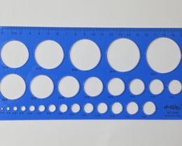 20cm CircleOpalTemplate Blue [36740]