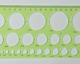 NO RESERVE!! 20cm CircleOpalTemplate Green [36744] 53FROGS