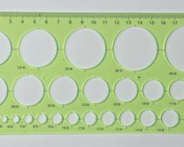 20cm CircleOpalTemplate Green [36756]