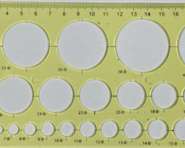 NO RESERVE!! 20cm CircleOpalTemplate Yellow [36785] 53FROGS
