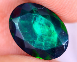 1.49cts Natural Ethiopian Welo Faceted Smoked Opal / NY3478